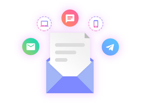 ارسال ایمیل و پیامک